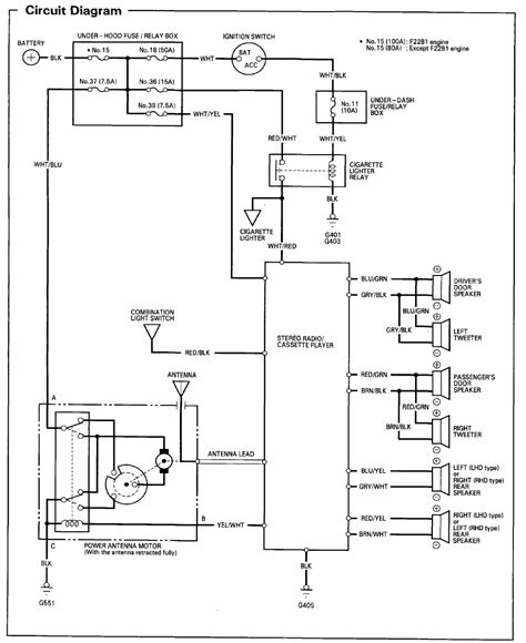94 accord radio wiring diagram cant find the right one honda tech honda discussion