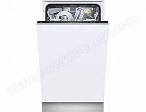Lave Vaisselle Tout Integrable : neff s58e50x2eu lave vaisselle tout integrable 45 cm ~ Nature-et-papiers.com Idées de Décoration