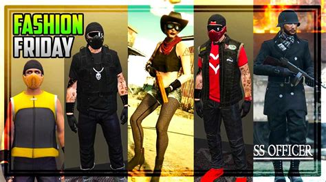 GTA 5 Online FASHION FRIDAY! 20 AMAZING OUTFITS! (Frosty SS Officer The Enforcer u0026 MORE) - YouTube