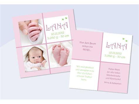 Karte Baby Geburt Text