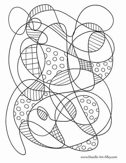 Abstract Coloring Doodle Kleurplaten Volwassenen Voor Alley