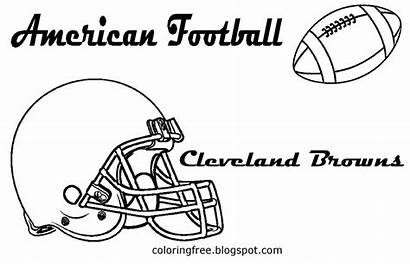 Football Printable Drawing American Coloring Browns Cleveland