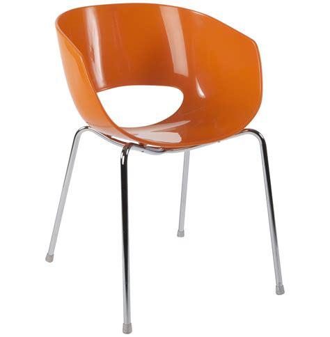 chaise plastique design chaise design plastique orange tous les objets de