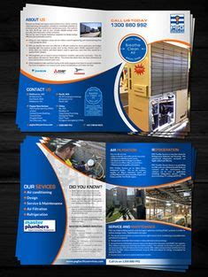 heating air conditioning business brochure hvac