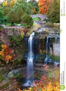 Beautiful Waterfalls with Fall Colors