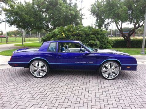 purchase used 1987 chevrolet monte carlo ss candy paint 24