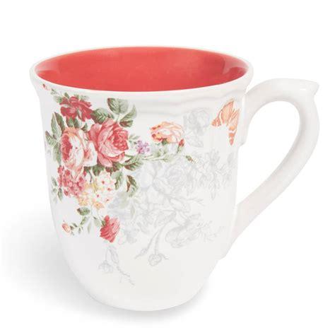 pompadour stoneware mug in coral maisons du monde
