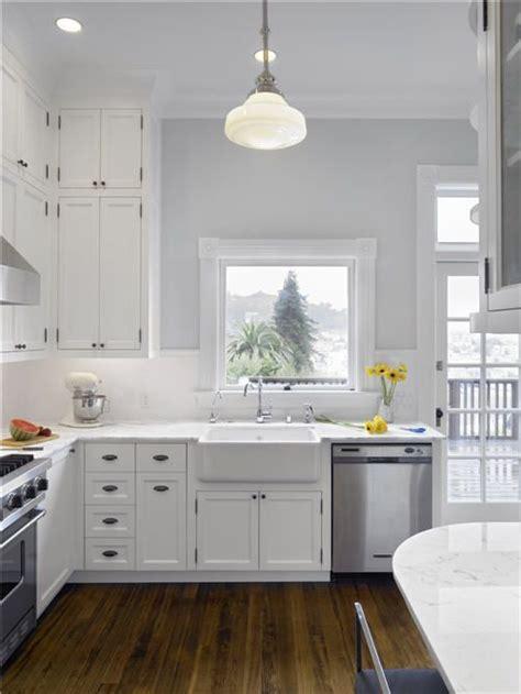 white cabinets kitchen grey walls bright kitchen