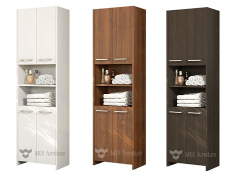 Modern Tall Bathroom Storage [m232], 4 Doors Cabinet