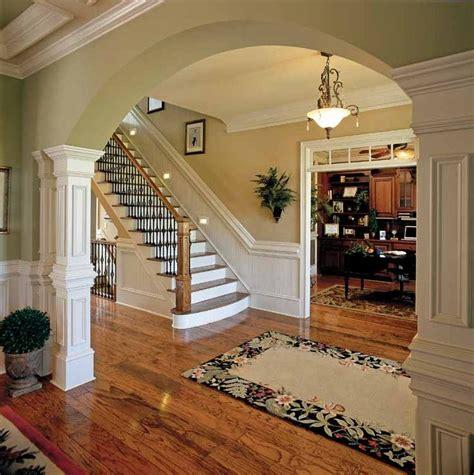 images stairs pinterest runners green walls oak trim