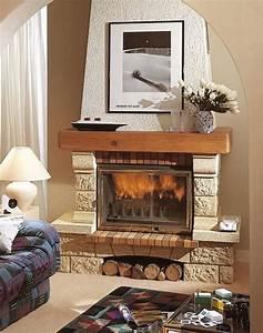 Transformer Une Cheminée Rustique En Moderne : cool chemine rustique fontenay with deco chemine ancienne with rajeunir une chemine rustique ~ Farleysfitness.com Idées de Décoration
