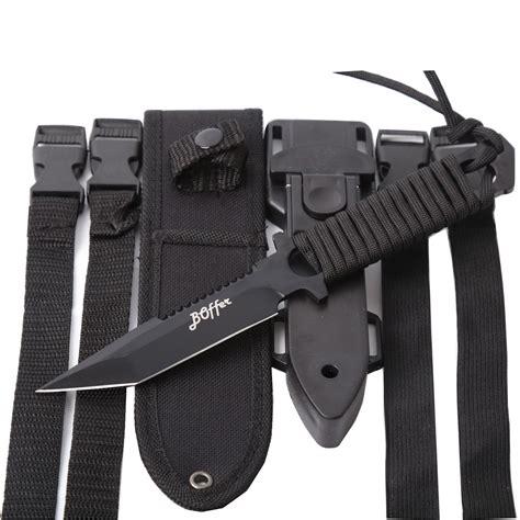 Dive Knives - boffer scuba diving knife black tactical sharp blade