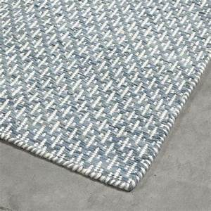 tapis bleu turquoise mic mac angelo tisse main en laine With tapis laine bleu