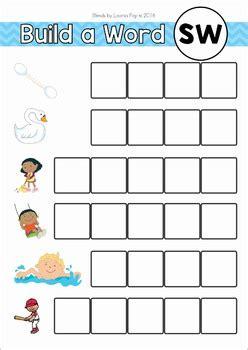 blends worksheets  activities sw  lavinia pop tpt