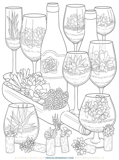 succulents coloring page  coloring daily