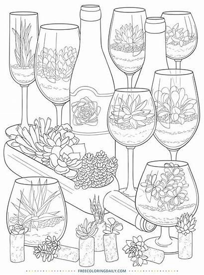 Coloring Succulents