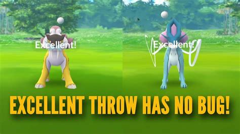 Excellent Throw Catches In Pokemon Go Legendary Beast Raid