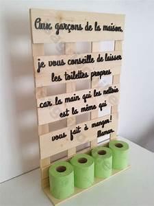 Support Photo Original : porte papier toilette sur planche de palette humour et d coration ~ Teatrodelosmanantiales.com Idées de Décoration