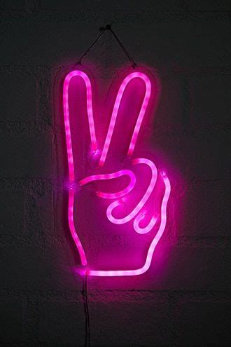peace sign led light   neon sign bedroom neon wallpaper neon signs