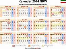 Kalender 2014 NRW Ferien, Feiertage, WordVorlagen