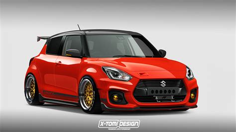 Slammed Down Suzuki Swift Sport Render Is A Lowrider's