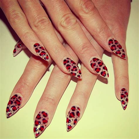 pointy nail designs 20 leopard nail designs ideas design trends