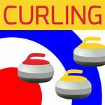 Curling Clipart Icon Vector Drawing Sports Clip