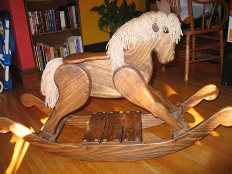 ideas wooden rocking horse woodworking plans diy simple
