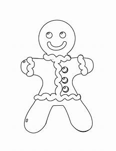 Free coloring pages of gingerbread man fox