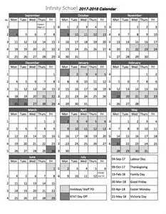 2017 2018 School Year Calendar Printable
