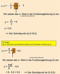 Schnittpunkt Berechnen Quadratische Funktion : lineare funktionen teil 4 berechnung des schnittpunktes zweier geraden ~ Themetempest.com Abrechnung