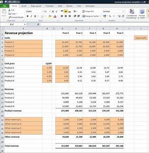 revenue projections calculator plan projections With annual projection template