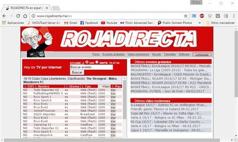 "Rojadirecta present live football streaming links. Web deportiva ""Rojadirecta"" condenada a cerrar e ..."