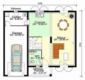 plan de maison 100m2 avec garage idees novatrices de la With plan maison etage 100m2 3 plan de maison 100m2 avec garage idees novatrices de la