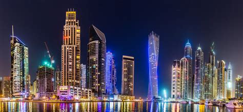 dubai marina cityscape uae custom wallpaper