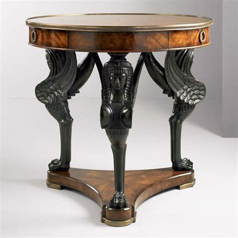 egyptian revival table  century design furniture