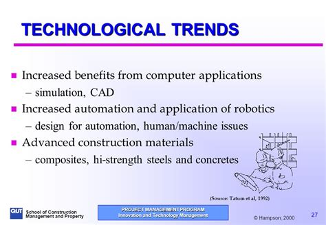 trends and issues in design and technology innovation and technology management ppt