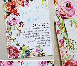 a peek into the studio floral watercolor wedding With beautiful wedding invitation watercolor flowers