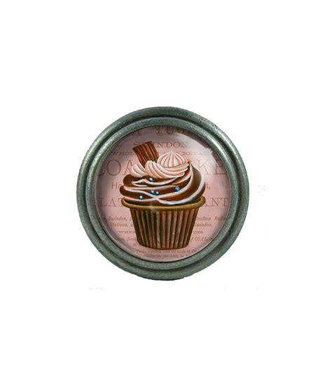 bouton porte de cuisine bouton de meuble cupcake marron au chocolat déco bistro
