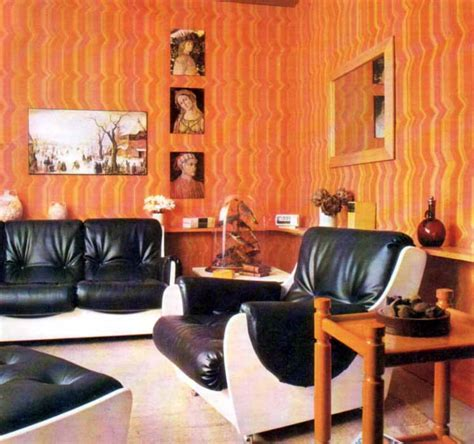 Retro Living Room Yellow by Inspirations For A Retro Living Room Wall Coverings