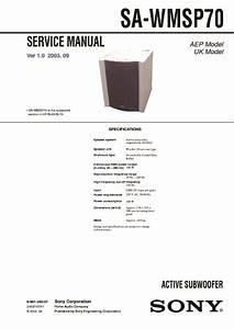 Sony Ht-sl65  Ht-sl70  Sa-wmsp70 Service Manual