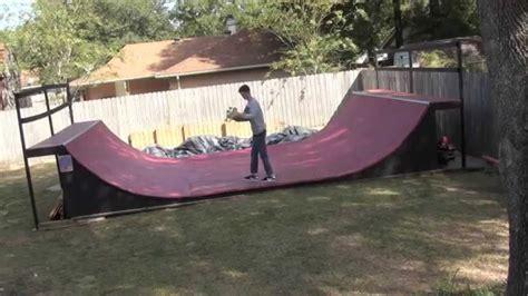 Backyard Halfpipe Youtube