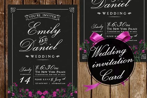 Black/White Wedding Invitation ~ Invitation Templates