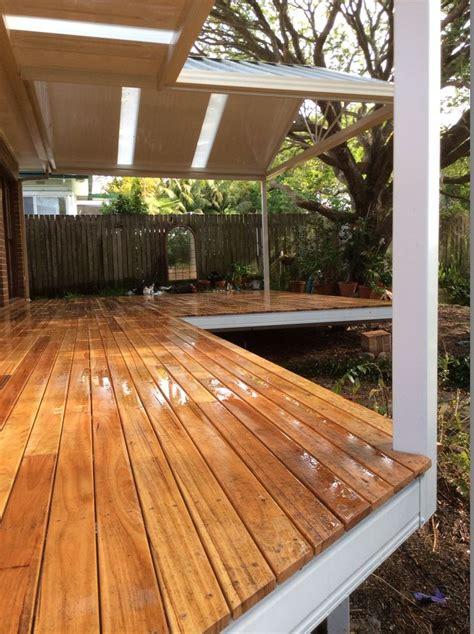 spantec boxspan steel frame deck  timber decking