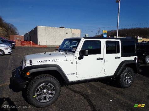white jeep 2013 bright white jeep wrangler unlimited rubicon 4x4