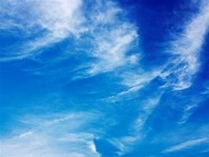 Blue Sky Light Clouds Background - PhotoHDX