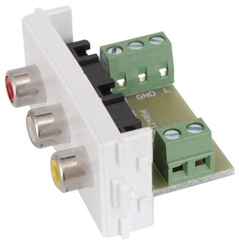 rca socket module   rca av  mounting   wallplate sound division surplustronics