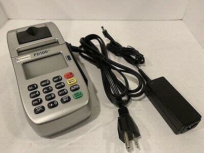 Such as view balance and transactions, reactivate accounts and link or unlink accounts for atm use. First Data FD100ti Credit Card Machine p/n 001642020 with Power Supply   eBay
