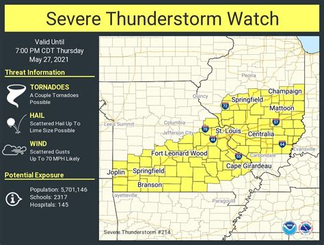 Severe Thunderstorm Watch In Effect Until 7PM For Portions ...