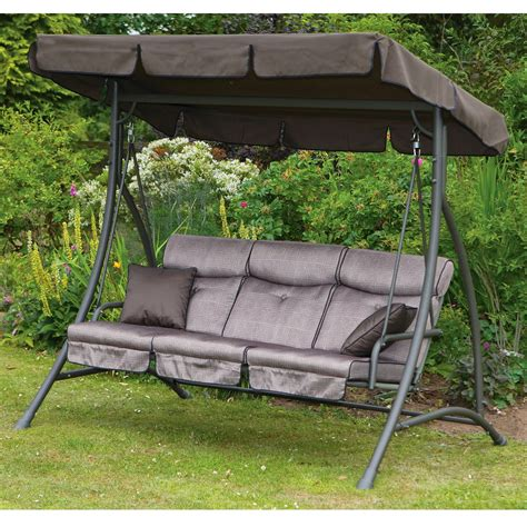 canapé swing exterior wicker 2 person upholstered patio swing with